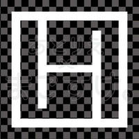 和モダン/白/png/H