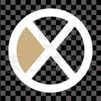 シンプル/色付き白/png/X