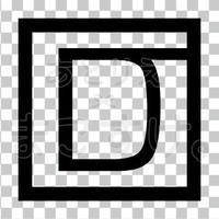 和モダン/黒/png/D