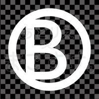 シンプル/白/png/B