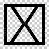 和モダン/黒/png/X