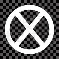 シンプル/白/png/X