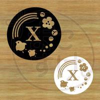 ステッカー・アイロンシート / 和風 / X