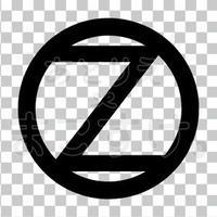 シンプル/黒/png/Z