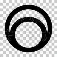 シンプル/黒/png/O