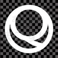 シンプル/白/png/Q
