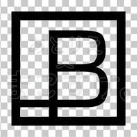 和モダン/黒/png/B