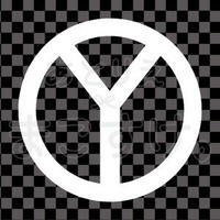 シンプル/白/png/Y