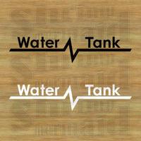 ステッカーシート / Water Tank +文字 / 背景抜き