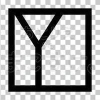 和モダン/黒/png/Y