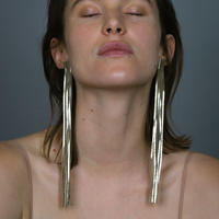 Saskia Diez/LEATHER EARRINGS