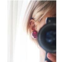 BAKELITE Gritter Earrings PURPLE