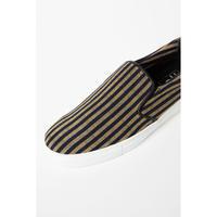 38 CMS / AC01 : 会津木綿 棒縞sneakers