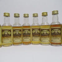 8 closed distillery  Gordon & MacPhail Connoisseurs Choice Brown Label miniatures