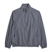 GOALSTUDIO - LOGO EMBROIDERY JACKET (Grey)