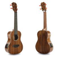 ◆美木目 劇鳴り TOM ukulele AAAAA級コアオール単板 テナーウクレレ ピックアップ搭載 インレイ TUT-700◆