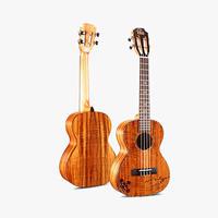 ◆美木目&劇鳴り UKU ukulele  AAA級アカシア単板 テナーウクレレ ツリー彫刻 インレイ S-T30◆