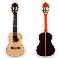 ◆劇鳴り TOM ukulele AAAA級スプルース単板ローズウッド テナーウクレレ インレイ スロテッドヘッド TUT-680M◆