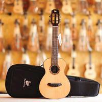 【ケース付き】美インレイ スロテッドヘッド Kawena ukulele AAAA級スプルース・ローズウッドオール単板 テナーウクレレ KT-02◆