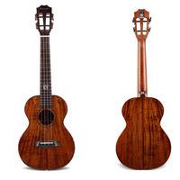 ▼美木目!劇鳴! 5A級コア単板 Enya ukulele 高級テナーウクレレ スロテッドヘッド▼