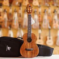 ▼オール単板!くっきり木目! AAAAA級アカシアコア材Kawena ukulele コンサートウクレレ スロテッドヘッド仕様▼