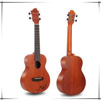◆【送料無料】Sinye ukulele AAA級マホガニー単板 コンサートウクレレ クローバー柄◆