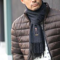 Ralph Lauren/ラルフローレン ポロベアー刺繍ストライプマフラー