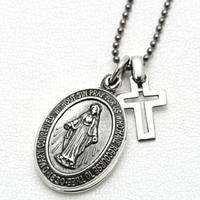 amp japan/アンプジャパン Silver Maria Locket with Silver Cross 2AH-181