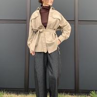 Healthy DENIM/ヘルシー デニム Almond(with belt)/ベルト付コーデュロイシャツ