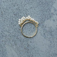 shuo 12004 Drop Pearl Ring