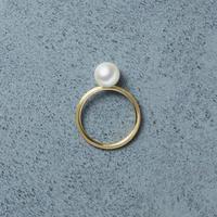 13013 / Tansui Pearl Ring (K18 / Mat)