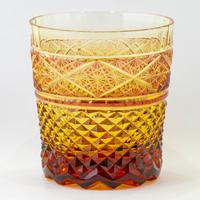 燦 ロックグラス -金赤琥珀-