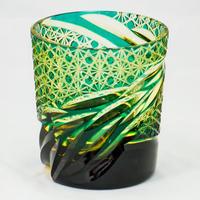 雅 ロックグラス -緑琥珀-