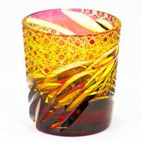雅 ロックグラス -金赤琥珀-