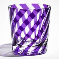 渦 ロックグラス -金紫-