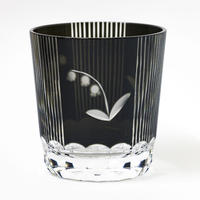 鈴蘭 ロックグラス -黒-