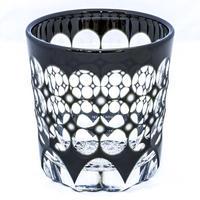珠 ロックグラス -黒-