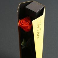 [プリザ]かっこ飛び出すバラ The Flora /オレンジ