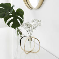 One flower vase - Gold 24K -