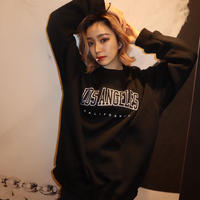 los angels black sweat  ※unisex item