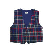 "USED ""NORTHERN REFLECTIONS"" COTTON PLAID VEST"