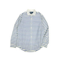 "USED ""POLO by RALPH LAUREN"" WIDE COLLAR BORDER SHIRT"