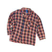 USED FLANNEL CHECK PAJAMA SHIRT