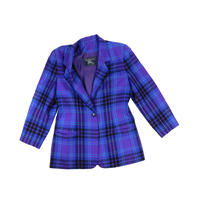 "LADIES USED ""BURBERRY"" TARTAN CHECK JACKET"