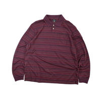 "USED ""VAN HEUSEN"" BORDER PATTERN POLO L/S"