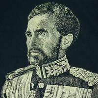"USED ""HAILE SELASSIE"" COTTON TEE"