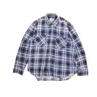 "USED ""TREND BASICS"" COTTON FLANNEL PLAID SHIRTS"
