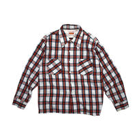 "USED ""70'S COUNTRY SQUIRE"" PLAID BOX SHIRT"