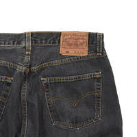 "USED ""Levi's 501"" BLACK DENIM"
