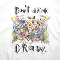 "USED ""FRED BABB / DON'T DRINK AND DRAW"" T-shirt"
